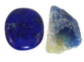 Lapis Lazuli (5-6) and Cornish Blue Fluorite (4)