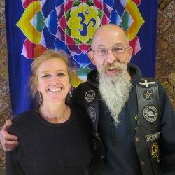 Graham and Beth Holtum at Rainbow Spirit crystal shop Wadebridge Cornwall