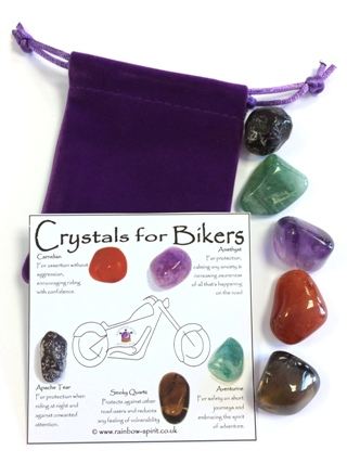 Crystal Set for Bikers from Crystal Grids & Sets