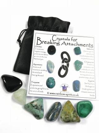 Crystals for Breaking Attachments from Crystal Grids & Sets
