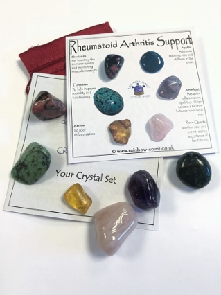Rheumatoid Arthritis Crystal Support from Crystal Grids & Sets