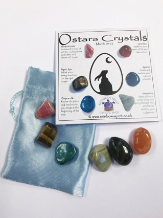 Spring Equinox Ostara Crystal Set from Crystal Grids & Sets