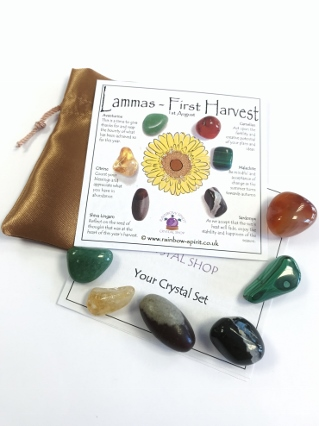 Lammas Lughnasadh Crystal Set from Wheel of the Year