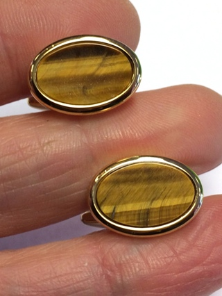 Oval Tigers Eye Cufflinks *40% OFF* from Cufflinks