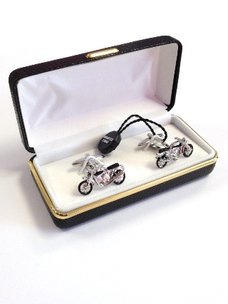 Motorcycle Cufflinks from Cufflinks