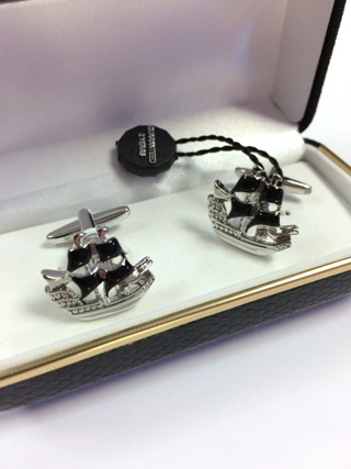 Pirate Ship Cufflinks *SOLD* from Cufflinks