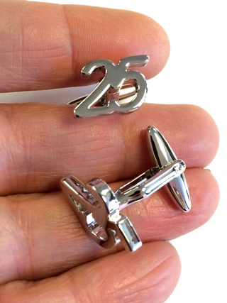 25 Celebration Cuff Links from Cufflinks