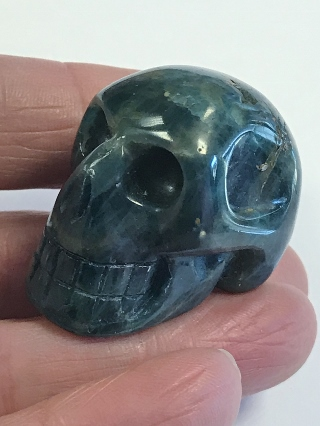 Blue Apatite Crystal Skull from Crystal Skulls