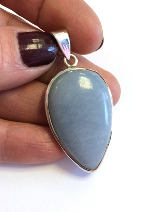 Angelite Pendant from Silver Gemstone Pendants