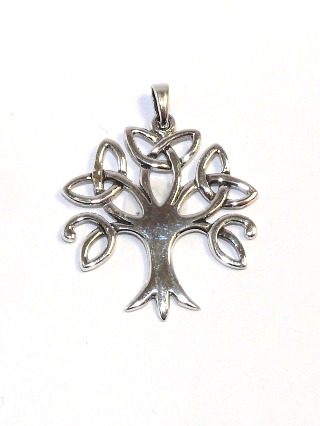 Silver Celtic Tree Pendant from Silver Symbolic Jewellery