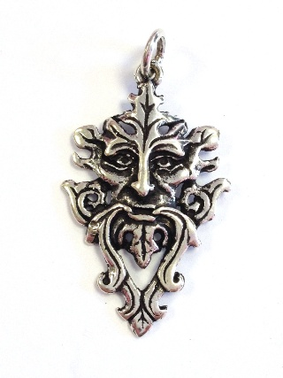 Silver Green Man Pendant from Silver Symbolic Jewellery