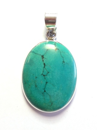Turquoise Pendant from Silver Gemstone Pendants