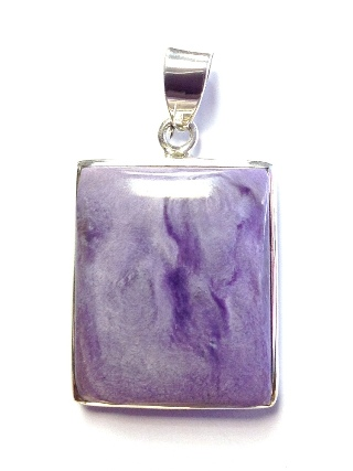 Charoite Pendant from Silver Gemstone Pendants