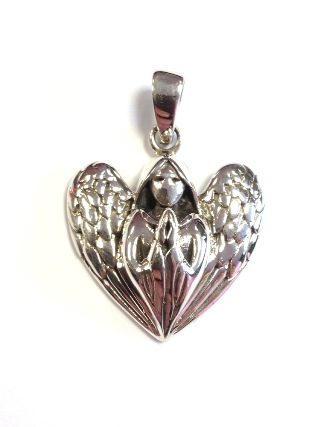Silver Angel Pendant from Silver Symbolic Jewellery