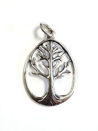 Teardrop Silver Tree Pendant *SOLD* from Silver Symbolic Jewellery