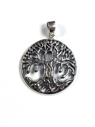 Ornate Tree of Life Pendant from Silver Symbolic Jewellery