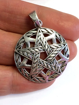 Knotwork Pentacle Pendant from Silver Symbolic Jewellery