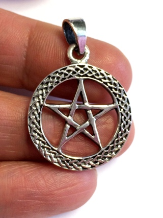 Pentacle Knotwork Pendant from Silver Symbolic Jewellery