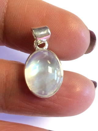 A Grade Rainbow Moonstone Pendant from Silver Gemstone Pendants