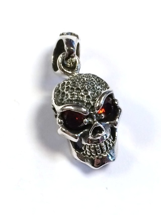 Silver Skull Pendant from Silver Symbolic Jewellery