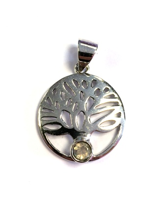 Rainbow Moonstone Tree of Life Pendant *SOLD* from Silver Symbolic Jewellery