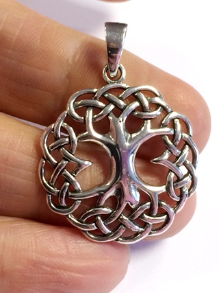 Celtic Knotwork Tree of Life from Silver Symbolic Jewellery