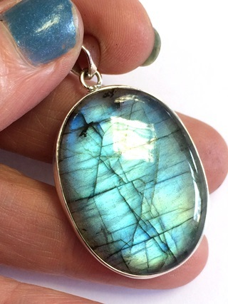 Labradorite Pendant from Silver Gemstone Pendants