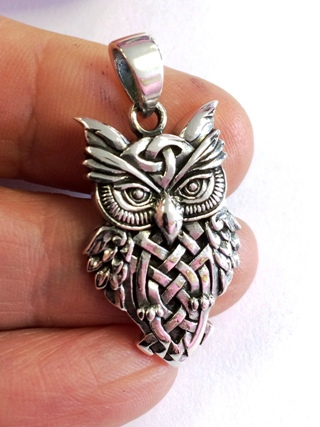 Celtic Owl Pendant from Silver Symbolic Jewellery