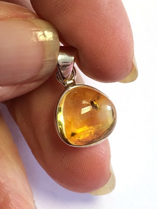 Amber Pendant from Silver Gemstone Pendants