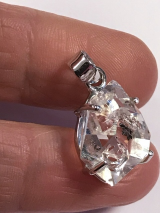 Herkimer Diamond Pendant from Silver Gemstone Pendants