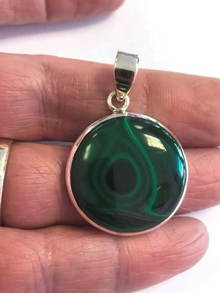 Malachite Pendant from Silver Gemstone Pendants