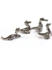 Pewter Celtic Dragons - Set of 4