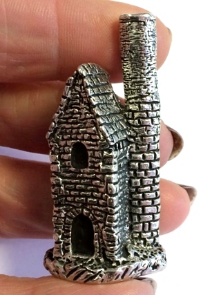 Pewter Cornish Mine Engine House from Helpful Tools
