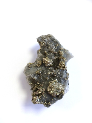 Pyrite on Quartz from Cornish Crystals & Minerals