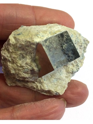Pyrite Cube in Matrix from Crystal Specimens