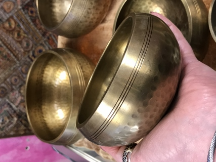 Dimpled Beaten Singing Bowl from Tibetan Singing Bowls